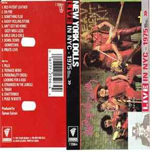 New York Dolls - Live In NYC - 1975 Red Patent Leather album