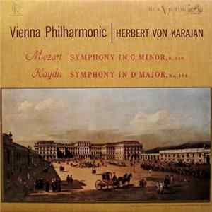 Mozart / Haydn - Vienna Philharmonic, Herbert Von Karajan - Symphony In G Minor, K. 550 / Symphony In D Major, No. 104 album